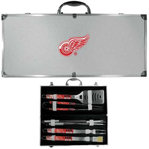Buy Online High Quality Detroit Red Wings 8 pc Tailgater BBQ Set - HighEndGrillers