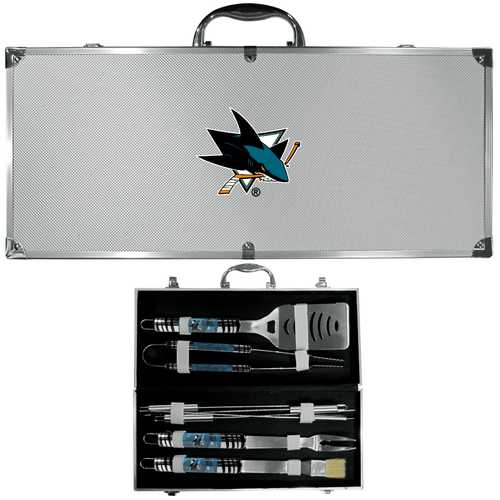 Buy Online High Quality San Jose Sharks 8 pc Tailgater BBQ Set - HighEndGrillers