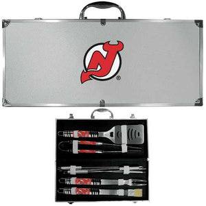 Buy Online High Quality New Jersey Devils 8 pc Tailgater BBQ Set - HighEndGrillers