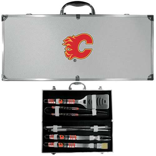 Buy Online High Quality Calgary Flames 8 pc Tailgater BBQ Set - HighEndGrillers