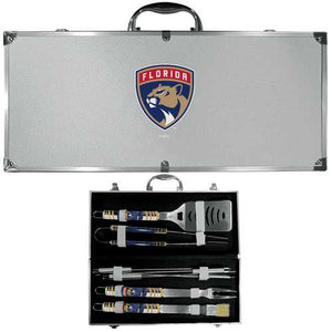 Buy Online High Quality Florida Panthers 8 pc Tailgater BBQ Set - HighEndGrillers