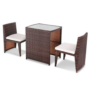 Buy Online High Quality 3 pcs Cushioned Outdoor Wicker Patio Set - HighEndGrillers