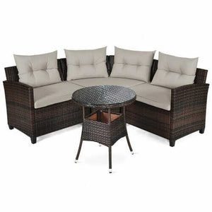 Buy Online High Quality 4 Pcs Furniture Patio Set Outdoor Wicker Sofa Set - HighEndGrillers