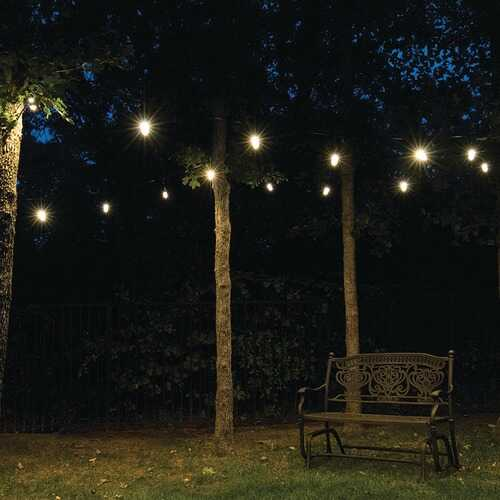 Buy Online High Quality Enbrighten 33307 Classic LED Cafe Lights (18ft; 9 Acrylic Bulbs) - HighEndGrillers