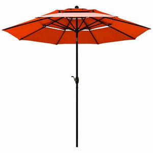 Buy Online High Quality 10ft 3 Tier Patio Umbrella Aluminum Sunshade Shelter Double Vented-Red - HighEndGrillers