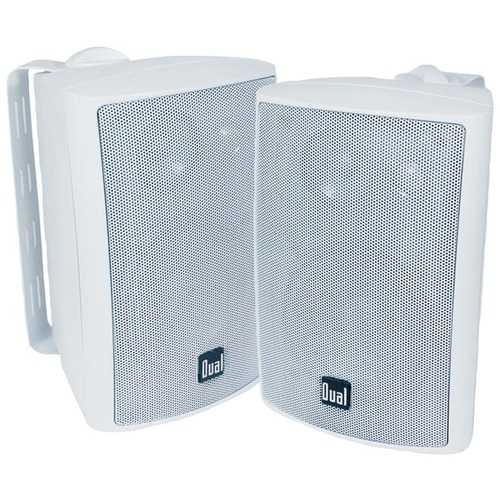 "Buy Online High Quality Dual 4"" 3-way Indoor And Outdoor Speakers (white) (pack of 1 Ea) - HighEndGrillers"