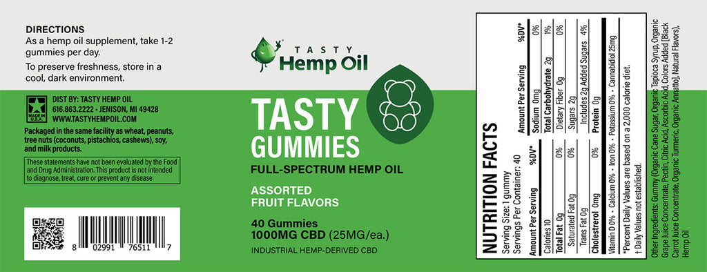 TASTY HEMP OIL Hemp Gummies
