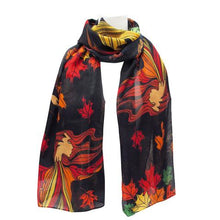 "Load image into Gallery viewer, ""Leaf Dancer"" Scarf"