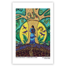 "Load image into Gallery viewer, Leah Dorion ""Strong Earth Woman"" Art Card"
