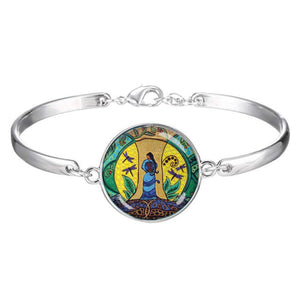 Strong Earth Woman Glass Dome Bracelet