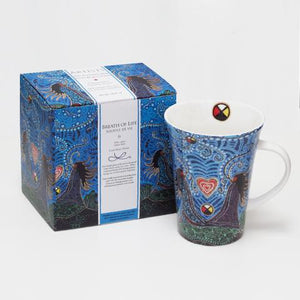 Breath of Life Mug Leah Dorian North of Fifty Metis Designs