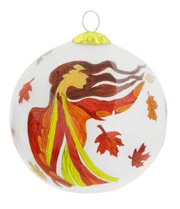 """Leaf Dancer"" Glass Ornament"