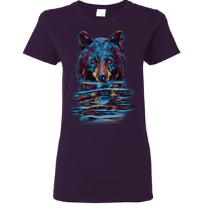 'Bear Emerging from Water' Women's Fit Tshirt