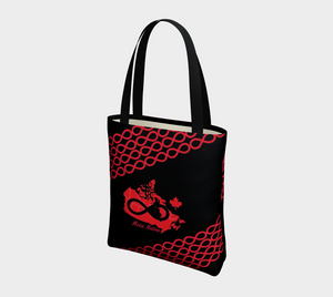 Metis Nation Black Tote, Lined