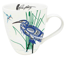 Load image into Gallery viewer, Hummingbird and Blue Heron 18 oz Mug by Richard Shorty
