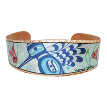 Load image into Gallery viewer, Peace Love & Happiness Copper Cuff bracelet - shipping April 21