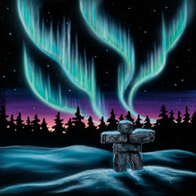 "Load image into Gallery viewer, ""Sky Dance - Inukshuk"" Art Card"