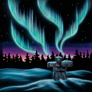 """Sky Dance - Inukshuk"" Art Card"