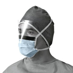Fluid-Resistant Procedural Face Mask with Eye Shield - (Box/50pcs) - MedStop Solutions