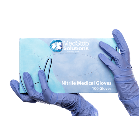 Nitrile Gloves - (Box/100pcs) - MedStop Solutions