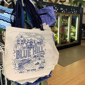 Blue Hill Tote Bag