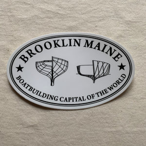 Brooklin Maine Oval Sticker