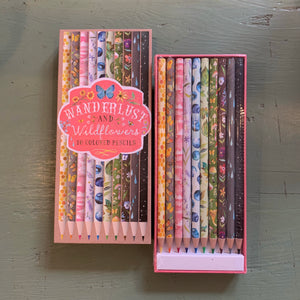 How to Be a Wildflower: Wanderlust and Wildflowers Colored Pencils