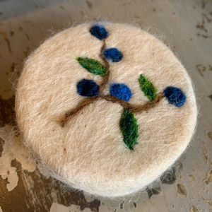 Felted Blueberry Soap