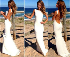 Sexy Party Backless Slim Fit Maxi Dress