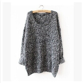 Fashion Loose Crochet Pullover Sweater