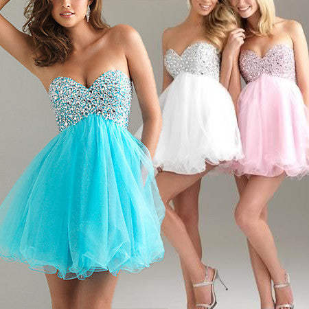 Strapless Chiffon Chest Dress Skirt