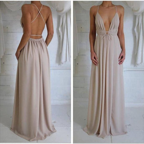 Sexy Fashion Deep v Off Shoulder Maxi Dress