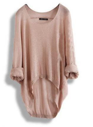 Irregular Hollow out Long Sweaters Top Blouse