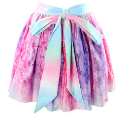 Fashion Irregular Bowknot Multicolor Skirt