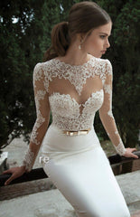 Fine Temperament Sexy Lace Long-Sleeved Backless Dress