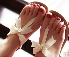 Fashion Bowknot Flat Sandals