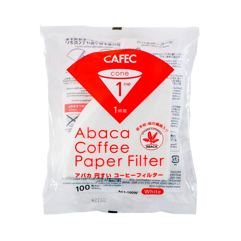 CAFEC Abaca Cone-shaped Paper Filter