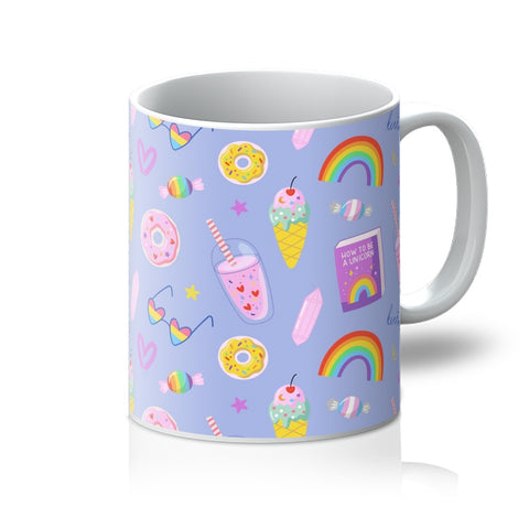 LGBTQ Pride Purple All Over Seamless Pattern Mug