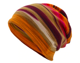 Striped Stripy Beanie Buff Multi Use Scarf Wrap Mens Womens
