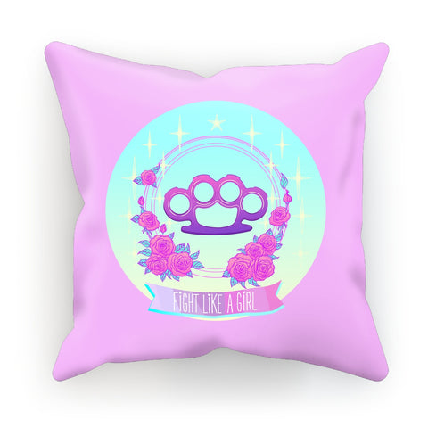 Fight Like a Girl Roses Cushion