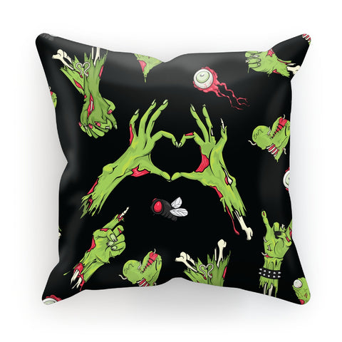 Zombie All Over Print Faux Suede Cushion