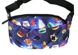 Cat Galaxy Print Bumbag Ice Cream Doughnuts Cookies Bum Bag Shoulder Kittens