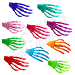 Skeleton Hand Hair Clip Slides Grip Skull Accessory Multiple Colours