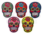 Sugar Skull Day of the Dead Skeleton Fabric Iron On Sew On Patch