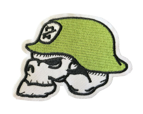 Military Army Soldier Skull Helmet White Skeleton Fabric Patch Iron On Sew On Em