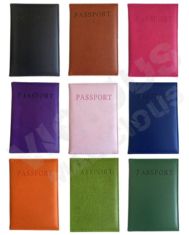 Faux Leather Passport Holder Case Travel Card Wallet Book Cover