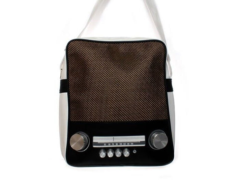 Retro Vintage Speaker Stereo Messenger / Satchel Shoulder Bag