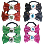 Kreepsville 666 Glitter Eyeball Hair Bow Band Bobbles