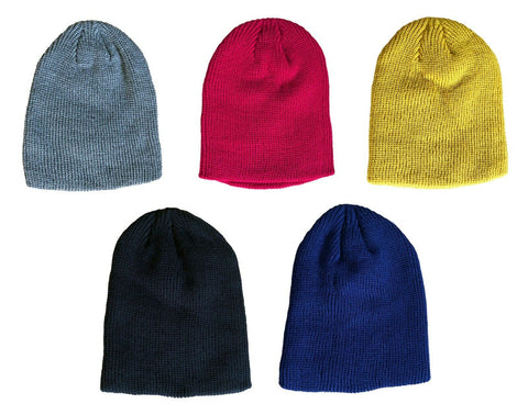 Thick Winter Beanie Hat Knit Soft Warm Mens Womens