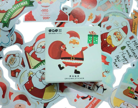 40+ Christmas Stickers Scrapbooking Crafts Santa Snowmen Holidays Stocking Holly
